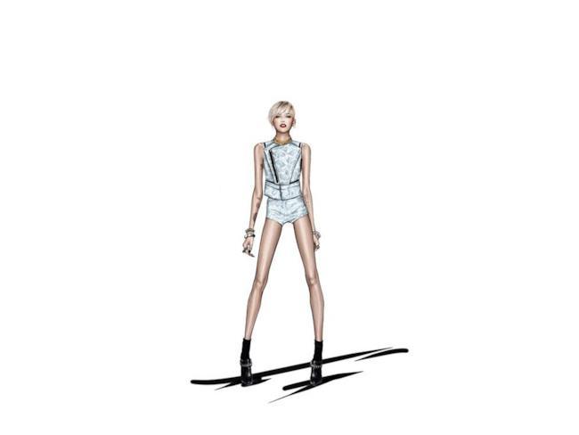 Roberto Cavalli crea una serie di look per Miley Cyrus