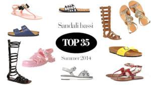 La top 35 dei migliori sandali bassi da donna per l'estate 2014
