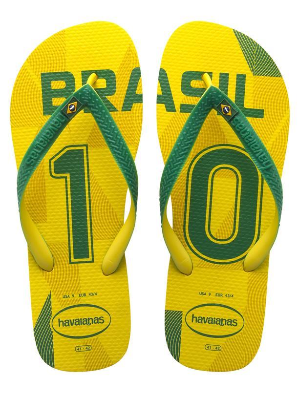 Le infradito Havaianas Brazil per i Mondiali di Calcio 2014