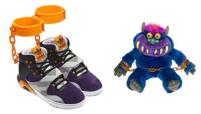 Le simpatiche scarpe-manette di Jeremy Scott