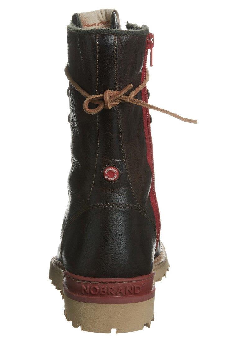 Stivali con i lacci marrone su Zalando