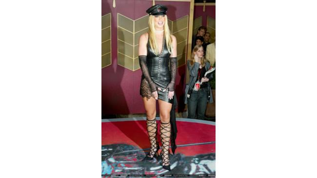 Britney Spears in overdressing style