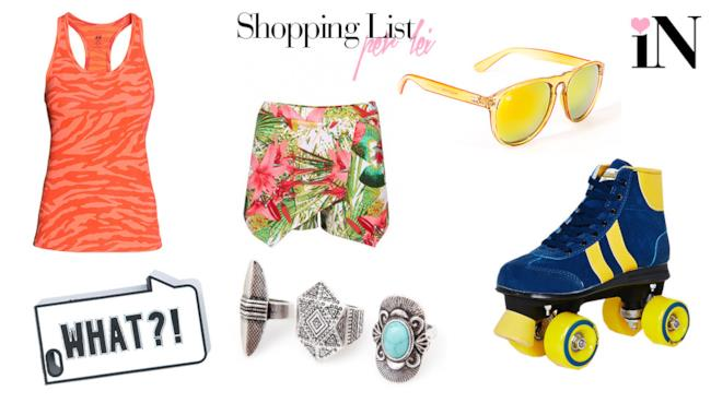 I capi della shoopping list per la donn afashion
