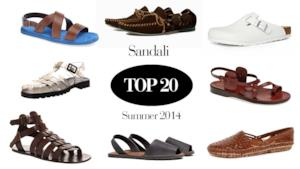 Top 20 dei sandali da uomo must have per l'estate 2014