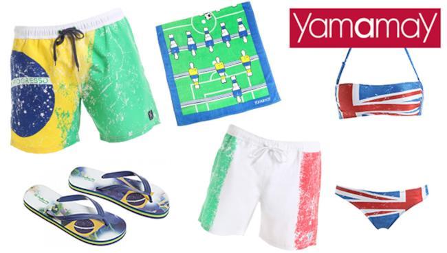 Yamamay presenta la nuova collezione per i Mondiali di Calcio 2014
