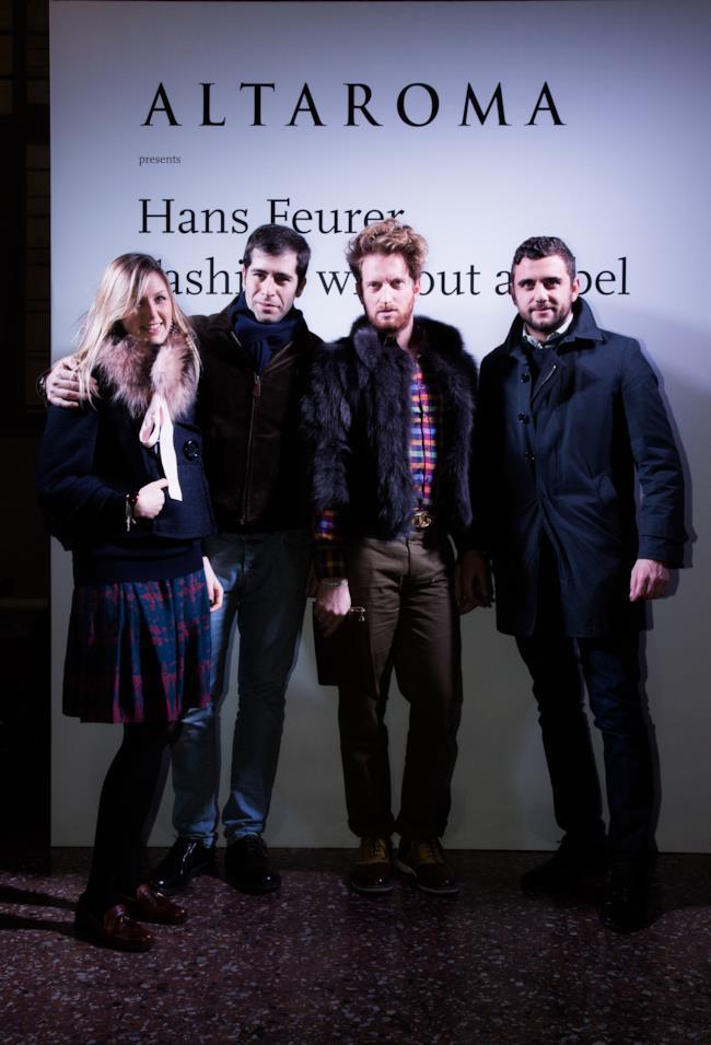 Red Carpet per l'opening della mostra di Hans Feurer