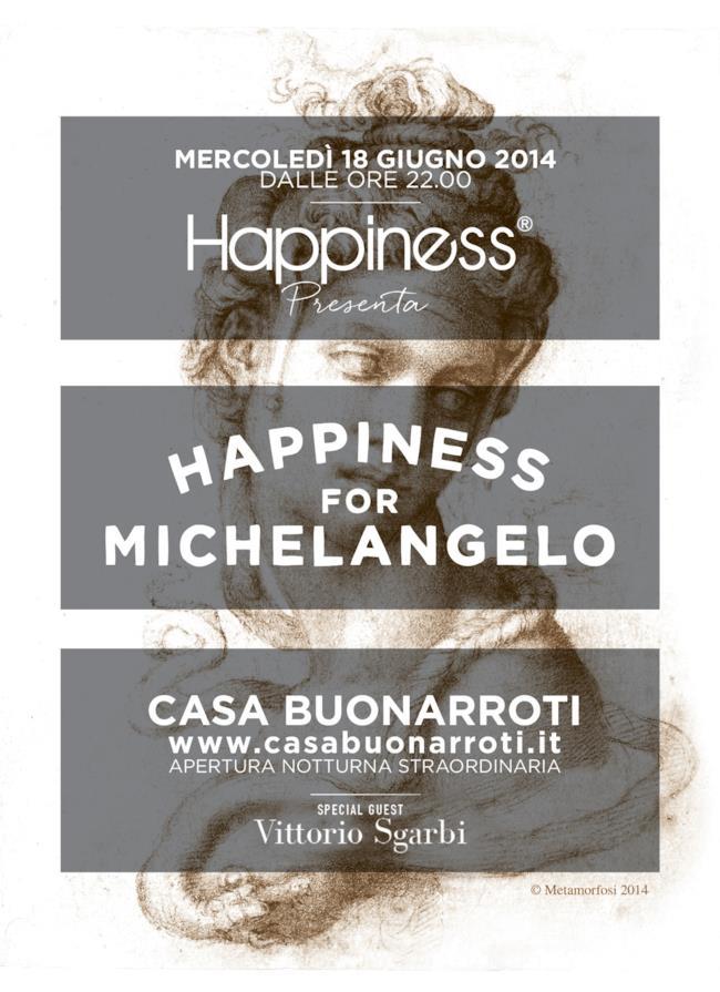 Happiness evento a Casa Buonarroti con Vittorio Sgarbi al Pitti uomo 2014