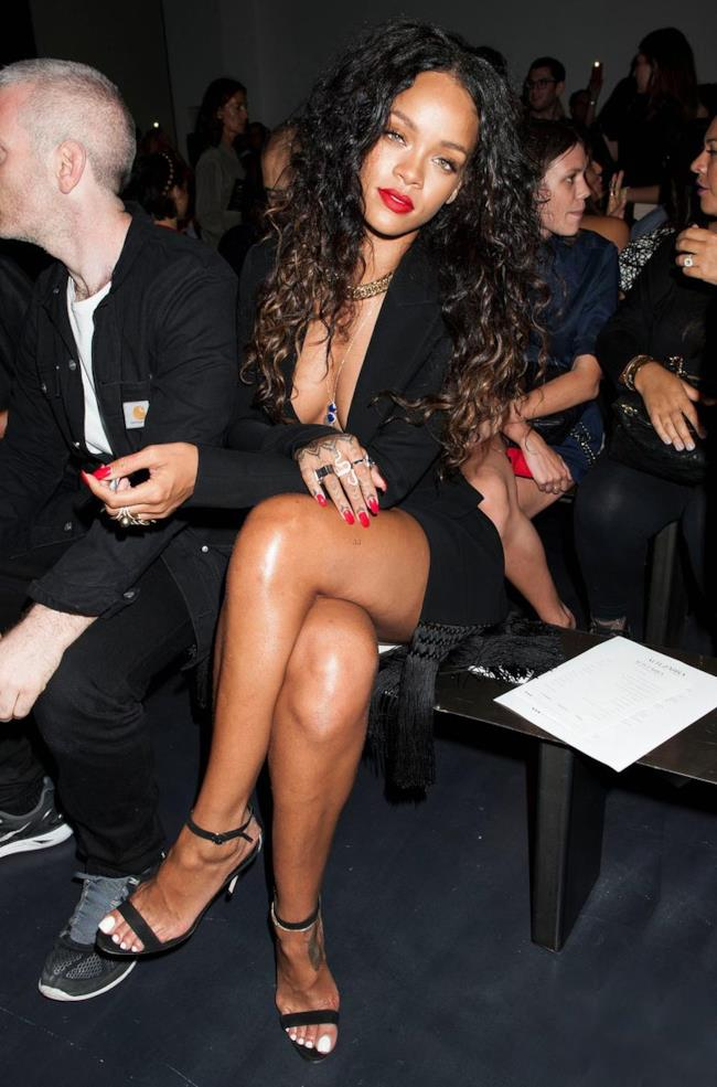 Rihanna alla Fashion Week 2014 di settembre a New York