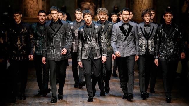 Dolce & Gabbana il finale della sfilata uomo 2014