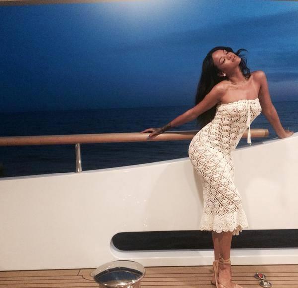 Rihanna in vacanza a Capri