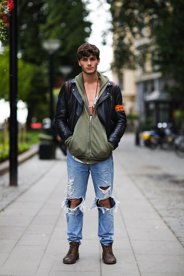 Jeans con effetto used