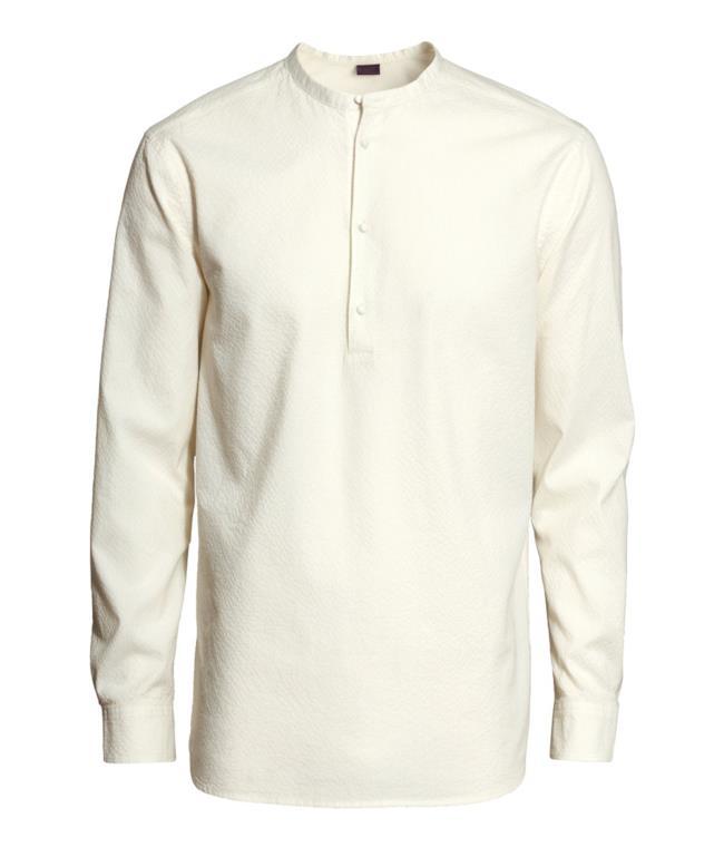 Camicia di H&M bianca in cotone per un outfit low cost