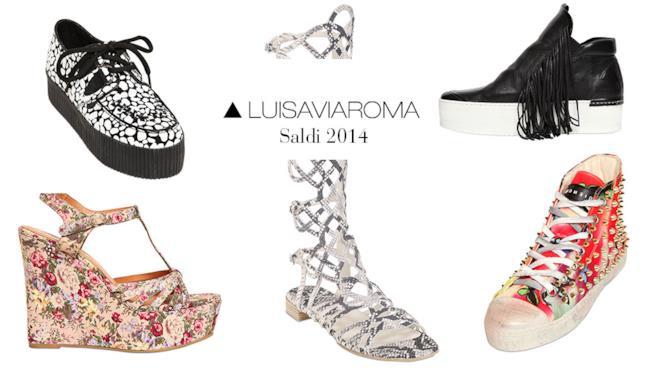 Per i saldi 2014 non perderti i modelli più belli di scarpe su LUISAVIAROMA