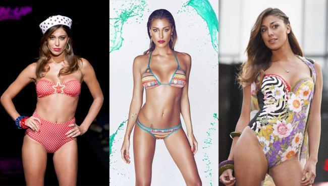 3 costumi da bagno per assomigliare a Belen Rodriguez durante l'estate 2014