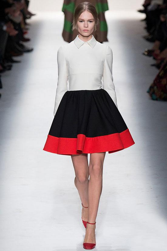 Valentino colour-block dress fall 2014