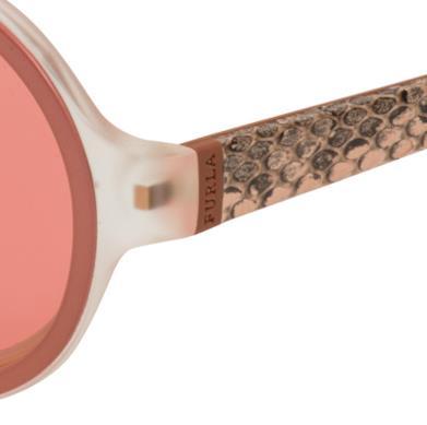 Furla 2014 il modello di occhiale con dettagli in pelle pitonata per l'estate