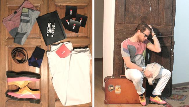 T-shirt ASOS, pantaloni Levi's e scarpe Dr Martens