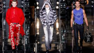 Versace uomo per questa fall winter collection 2014-15