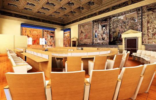 Gucci ci mostra con 3D come dovrebbe diventare la sala dopo il restauro