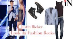 L'outfit di Justin Bieber dei Fashion Rocks 2014