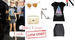 Look rock low cost per essere come la cantante Miley Cyrus