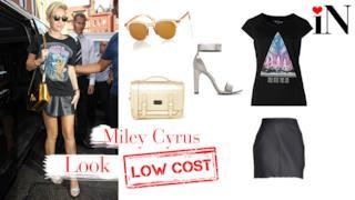 Look rock low cost per essere come la cantante Miley Cyrus