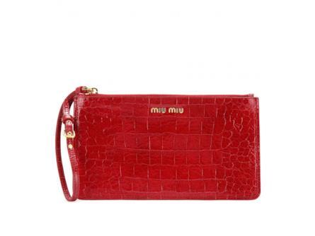 hot sale online 3f21f 3856b Clutch di Miu Miu in cocco red | Insane Inside
