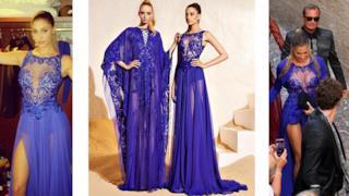 L'abito di Belen Rodriguez indossato per il matrimonio della Canalis