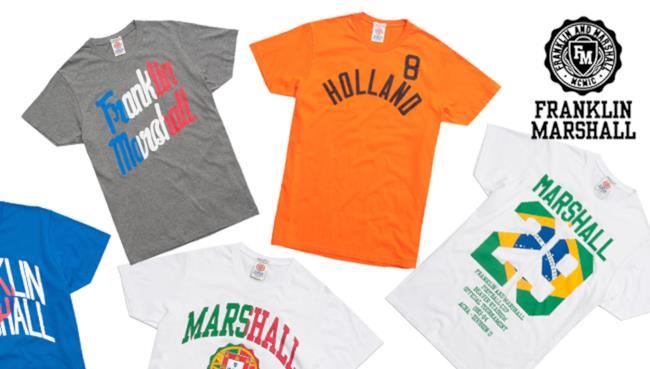 Franklin & Marshall presenta le t-shirt limited edition per i Mondiali di Calcio 2014
