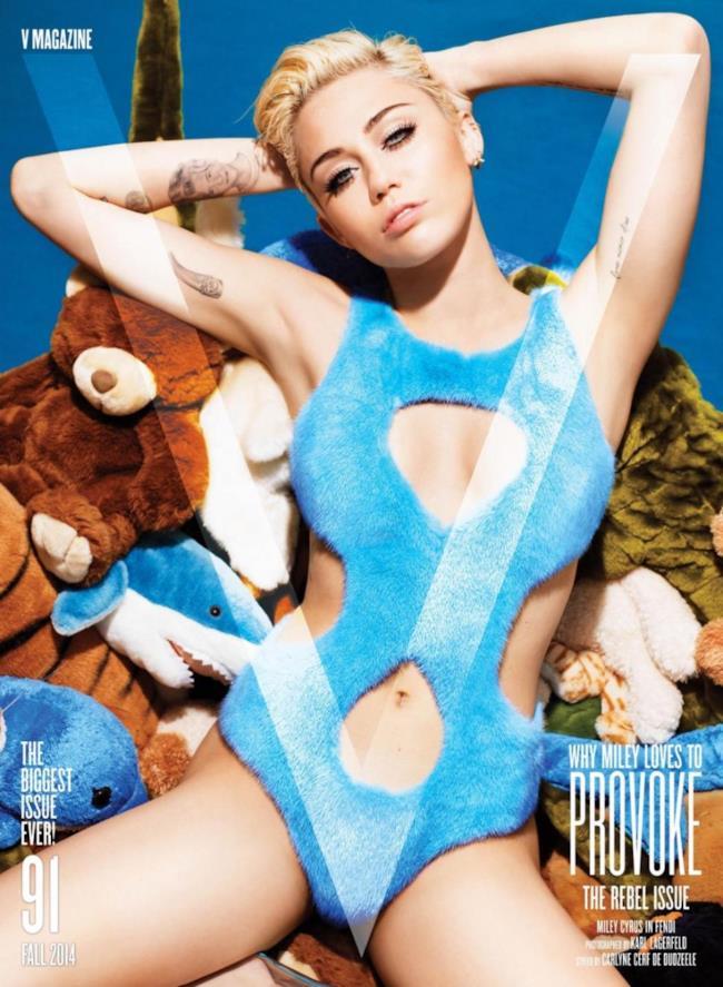 Miley Cyrus nuda su V Magazine di settembre 2014