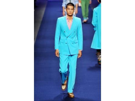 purchase cheap 20e9f 84b68 Etro spring summer collection 2015 uomo, completo azzurro ...