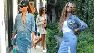 Glui outfit denim di Rihanna e Beyoncé