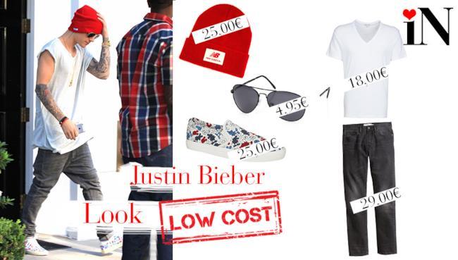 Il look casual per essere come Justin Bieber