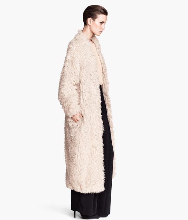 H&M fur coat style