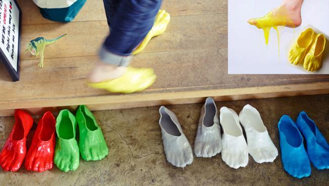 Satsuki Ohata il designer delle nuove scarpe FONDUE SLIPPERS