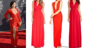 Demi Lovato per i VMAs 2014 indossa un abito rosso