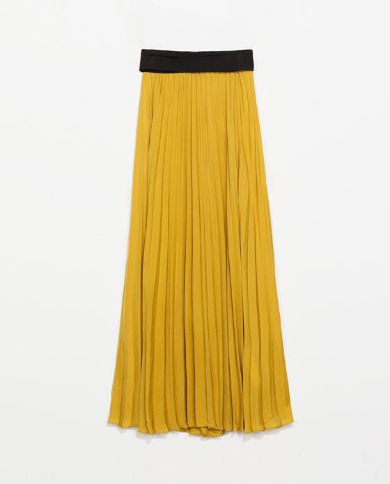 Per i saldi estivi 2014 non farti scappare la gonna con plissé di Zara