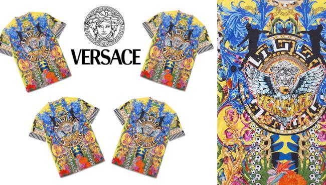 La maglietta limited edition firmata Versace per i Mondiali di calcio 2014