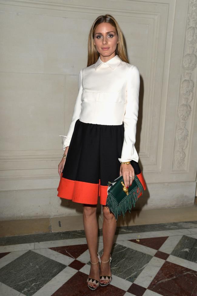 L'abito di Valentino indossato da Olivia Palermo per la sfilata Haute Couture