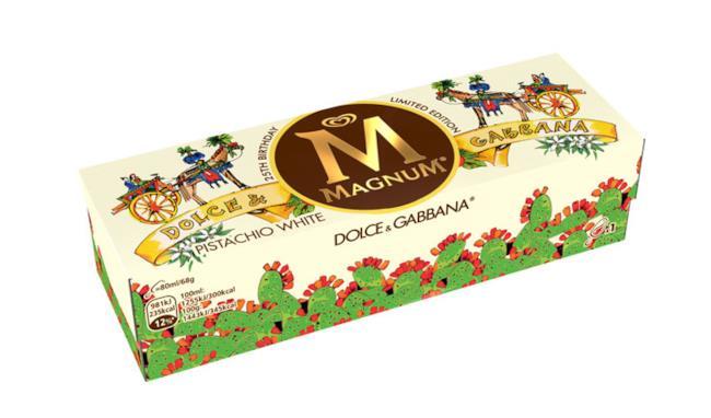 Dolce & Gabbana personalizza la scatola di Magnum per i suoi 25 anni