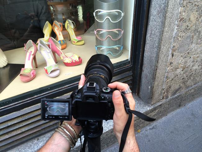 Parachic il nuovo brand di eyewear presentati nella boutique Mario Valentino