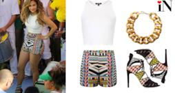 Jennifer Lopez we are one outfit per la World Cup 2014