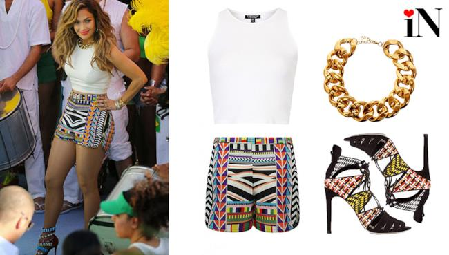 Jennifer Lopez World Cup 2014 outfit