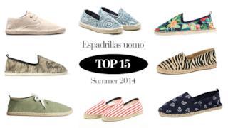 Top 15 dei migliori modelli di espadrillas da uomo per l'estate 2014