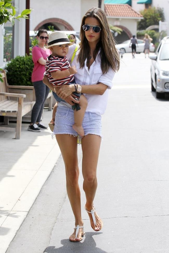 Alessandra Ambrosio shorts