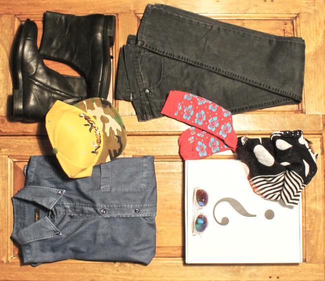 Camicia Zara, pantaloni di Zara, calze Red Sox Appeal e stivale di Zara