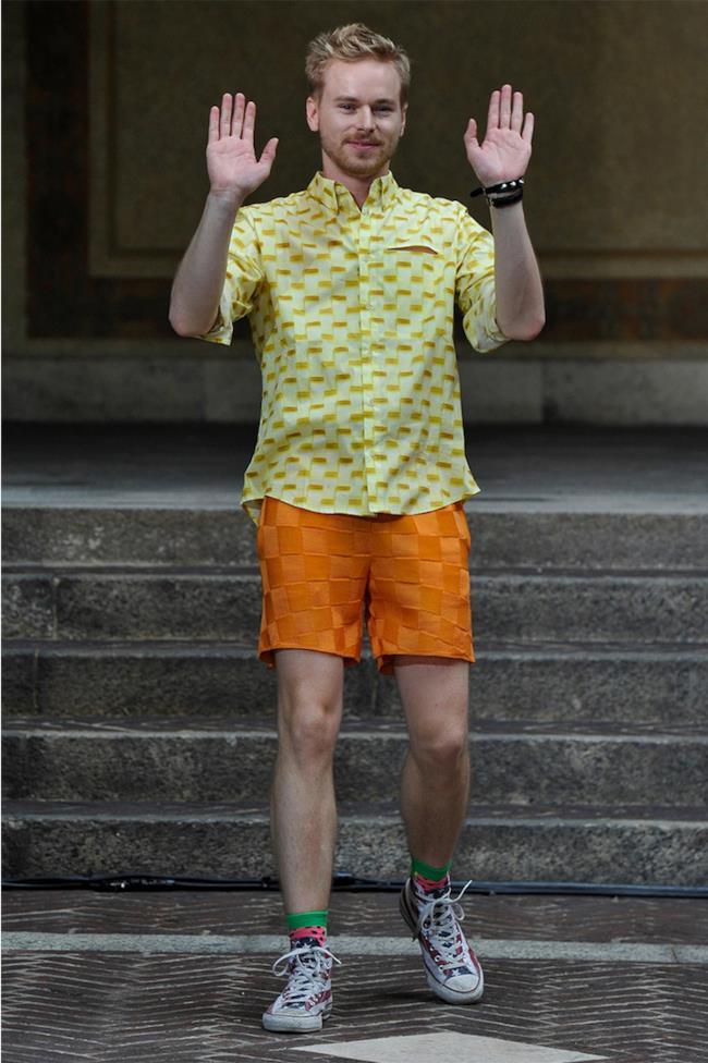 La collezione di Julian Zigerli per la primavera estate 2015, Milano Fashion Week