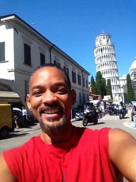L'attore americano Will Smith è in Italia per godersi qualche momento di vacanza lontano da set e famiglia
