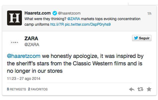 Zara si scusa pubblicamente per la maglia xenofoba