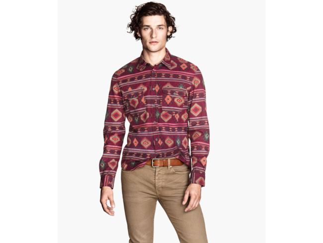 H&M camicia in fantasia mohicana